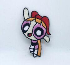 The Powerpuff Girls superhero cartoon Pink Iron/Sew on Embroidered Patch #1401