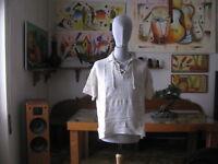 Vintage - T.Shirt / Maglia  Polo in Lino e Cotone , col.Naturale TG.M   1987