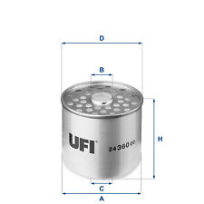 2436000 UFI Fuel Filter Diesel Replaces WF8018 , KX23 , 1457429215
