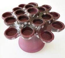 Großer Lichterbaum Keramik 18 Teelichter brombeerfarben in- und outdoor