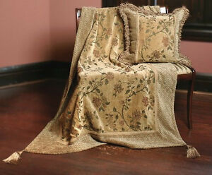 Antique Floral Isabella's Journey Chenille Throw
