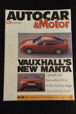 Autocar August Cars, 1980s Transportation Magazines