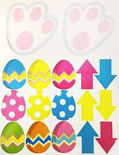 35pc Easter Bunny Trail Set Arrows Paws Eggs Kids Fun Hunting Decoration Party