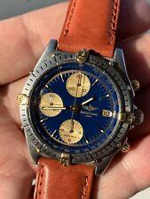 Breitling Chronomat Chronograph Automatic Ref B13047 Original Blue Dial Vintage