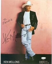 Ken Mellons autograph hand signed color photo country singer