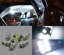 10 Bright White LED Lights Interior # Package Kit For Hyundai Santa Fe 2013-2015