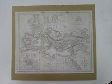 Vintage Map,ROMAN EMPIRE,