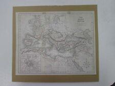 Vintage Map,ROMAN EMPIRE,