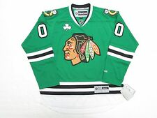 CHICAGO BLACKHAWKS ANY NAME / NUMBER ST. PATRICK'S DAY GREEN REEBOK JERSEY