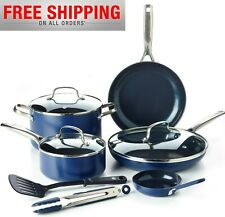 Blue Diamond 10-Piece Ceramic Non-Stick Ultimate Value Cookware Set - Pots Pans