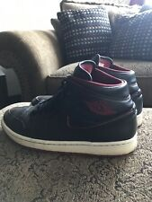 Nike Air Jordan 1 Retro Mid Black/Red Gym Sneakers Mens Size 10