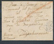 SCHIEDAM HP MET POSTHOORN OP BRIEF - ZUIJDSCHARWOUDE 18 JULY 1788,FRANCO ZL883
