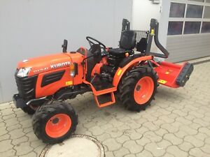 KUBOTA B1241, Bulldog, Traktor, Kleintraktor, Allradtraktor m. Mulchgerät 1,58