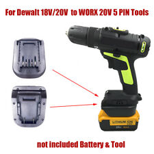 Battery Adapter For Dewalt 18V/20V Li-ion to WORX 20V 5 PIN Green Machine Tools