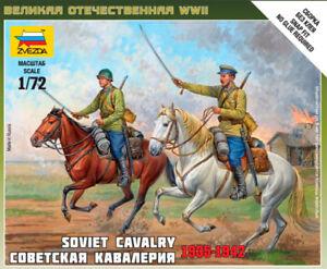 Zvezda 1/72 WWII Soviet Cavalry 1935-1942 # 6161