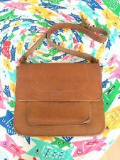 Vintage leather cross body bag. Student/Artist Look