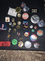 Lot of Vintage button pins randoms