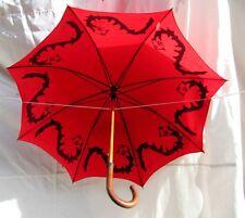 Paraguas Rojo c/ Funda Obra José de Guimarães 1986 Arte Original Nuevo Umbrella