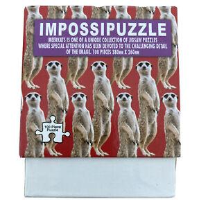 Impossipuzzle Meerkats 100 Piece Jigsaw Puzzle 380mm X 260mm Meerkat