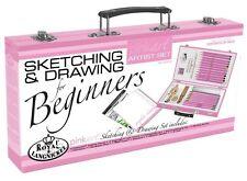Royal and Langnickel Beginners Sketching & Drawing Art Set Beginners Guide Pink