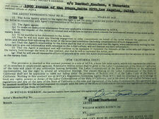 Clint Eastwood Signed CONTRACT A Fistful of Dollars UACC RARE