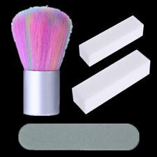 4Pcs Nail Cleaning Brush Powder Dust Remover Sanding Buffer File Block Tool Set