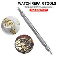 With 4 Pins Watch Band Strap Spring Bar Link Pin Remover Removal Repair Tool