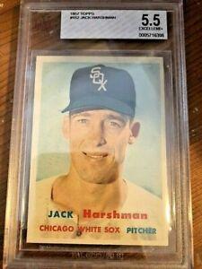 1957 Topps Baseball Card #152 Jack Harshman BVG 5.5