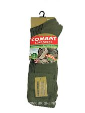 Mens Combat Military Army Green 3 Pairs Boot Socks