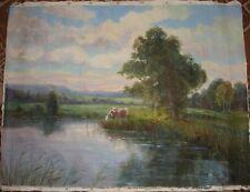 """J.Franke """"bayr. Seenlandschaft mit Kühen""""  163/13059"""