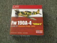 AVION  METAL NEUF 1/72  DRAGON  FW 190 A 4  YELLOW 5  50323