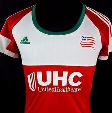 New England Revolution Soccer Women's Jersey Medium Adidas Climacool Red MLS $75