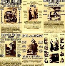 BONNIE AND CLYDE BARROW PARKER PUBLIC POSTER HAMER BANK ROB MURDER GANGSTER LAW