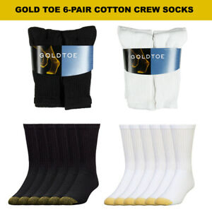 Gold Toe Men's 6 Pack Cotton Athletic Crew Socks