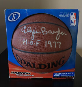 Elgin Baylor Signed Autographed Basketball NBA LA Lakers HOF 1977