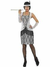 Small Silver Women's Flapper Fancy Dress Costume. - Costume 1920s Outfit Ladies