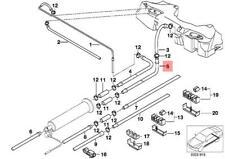 Genuine BMW E39 Rear Fuel Feed Pipe Mounting Return Line OEM 16121184158