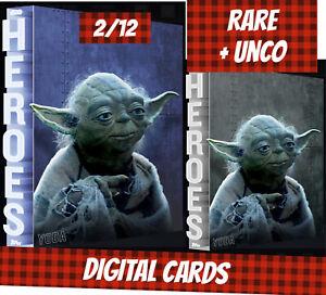 Topps Star Wars Card Trader Yoda Steel + Blue Heroes Series 2 2/12 2020