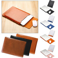"""Luxury Envelope Leather Sleeve Bag Case Cover for 11.6"""" 12.1"""" 13.3"""" 14"""" Notebook"""