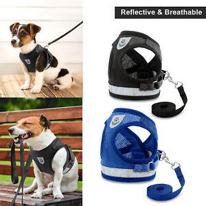 Leash + Pet Small Dog Puppy Harness Set Breathable Mesh Vest Chest Strap S M XL