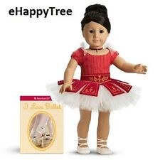 American Girl Doll Ballet Outfit Ruby Leotard Pointe Shoes Necklace Marisol