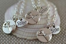 NP047-3 Three Sister Pinky Swear Necklaces, Best Friends, Promise, Secrets, Gift