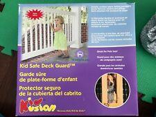 KidKusion KidSafe Deck Guard (New) - 16ft- Outdoor Balcony, Stairway, Deck Rail