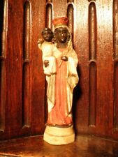 ANTIQUE PORCELAIN BLACK MADONNA OF ALTÖTTING FIGURINE STATUE
