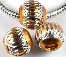 10/20/50Pcs Aluminum Carved Lantern Loose Spacer Beads Craft Making 6/8/10/12mm