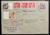 1948 Kirn Germany Allied occupation Commercial Cover To Pirmasens Sc#6N16