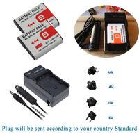 2x NP-BG1 Battery /Charger For Sony Cyber-shot DSC-H DSC-W DSC-N1 N2 DSC-T DSC-W