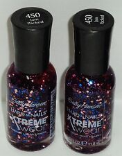 2 Sally Hansen Hard As Nails Xtreme Wear Nail Polsh Nail Color JAM PACK #450