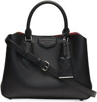 DKNY Sullivan Leather Small Satchel BLK NWT Triple Compartment Handbag MSRP $248