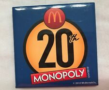McDonalds Gently Stored 20th Anniversary Monopoly Pin LOOK